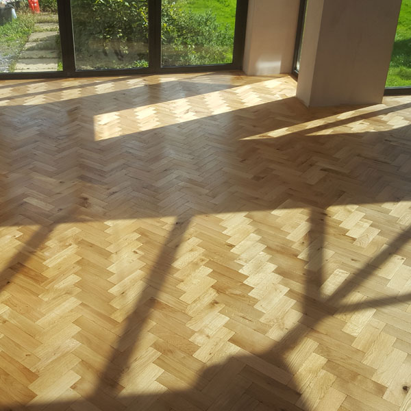 Parquet Floor Completed Dry